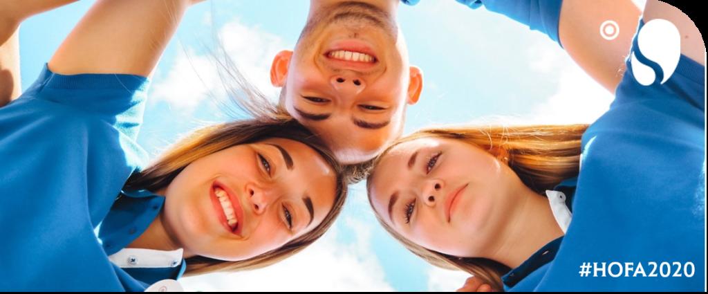 Ausbildung 2020 - Hotelfachmann/frau. Zu sehen von links nach rechts: Svea, Tim und Laura